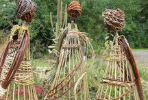 плетение на огороде