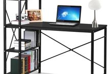 Desk Storage Unit Black Computer Table Work Student StanD Office Home Furniture