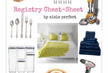 Wedding Gift Registries / Get organized with a gift registry!