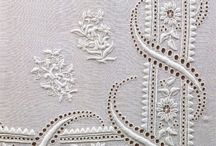whitework / embroidery in white