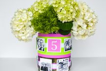DIY Centerpieces / Take a trip down memory lane with these easy DIY photo centerpieces for wedding receptions. These centerpieces feature photos of the happy couple that you can print yourself or purchase photo magnets to reuse on your refrigerator. http://www.velcro.com/blog/2016/may/easy-diy-photo-centerpieces-for-wedding-receptions-and-bridal-showers