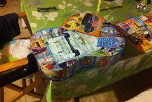 DIY ligtning mcqueen guitar / DIY ligtning mcqueen guitar for my son