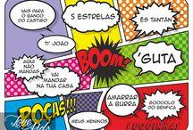 INDIVIDUAIS DE REFEIÇÃO | PLACE MATS / PT | As frases mais faladas dos pequenos impressas em individuais de refeição ao estilo de banda desenhada. Um desafio que adorei fazer e que me divertiu muito.  Gostou da ideia? Faça a sua encomenda. Todos os artigos são personalizados.  EN | The kids' most spoken phrases printed on two place mats in cartoon comic style.  I loved the challenge and had a great time doing it.  Sounds good? Place your order. All items are personalized.