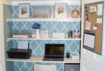 The Closet Office / Ideas for turning a closet into a fully functional office space.