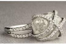 Jewelry: raw diamonds