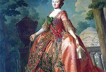 18th c., robe de cour: française parée