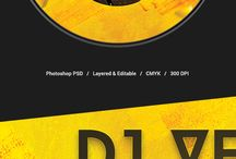 CD Artwork Templates / CD artwork template collection for Adobe Photoshop