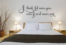 Bedroom Wall Decals / Bedroom Wall Decals