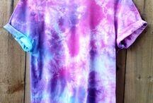 Tie Dye / Many objects that have been tie dyed.