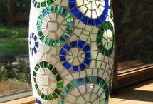 Vasos de mosaico