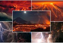 Volkanik Toz Bulutlarının Oluşturduğu İnanılmaz Görüntüler