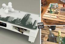Déco palettes de bois / Le plein d'idées pour recycler les palettes de bois et les transformer en superbes décorations! Laissez-vous inspirer...