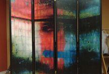 SHOJI SCREENS / One-of-a-kind room dividers, artist made Shoji Screens