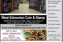 Store Photos / West Edmonton Coin & Stamp has a massive retail store located inside of one of the worlds largest shopping centers: West Edmonton Mall. Our displays are comprised of an overwhelming amount of unique items!