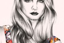 Charlotte Jade Portraits & Fashion Drawing / My Portraits and Fashion drawings