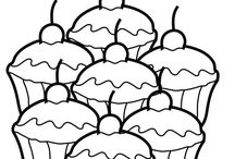 Coloring Book Pages, Designs and Redwork