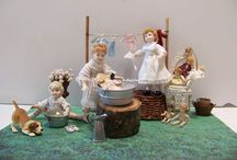 Jour de lessive/ Washing day / A miniature scene by Béatrice Thiérus