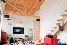 施工例7 l ソラマド香川 / 香川県内で建てたソラマドの家の写真です。 お洒落で、わくわくして、人とは違った家を建てたい、もちろんローコストで…。 私たちは、そんな住宅をたくさん実現してきました。 お客様のお好みのテイストはもちろん、ライフスタイルに合わせた、快適で心地良いオンリーワンの住まいをご覧ください。  <Works7> 香川県高松市 家族構成:夫婦+子供2人 延床面積:90.03㎡