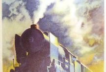 Vintage Int'l Train Posters