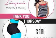 Tank You! Thursday / At You! Lingerie, we're very thankful for all of our customers, fans & followers. To show how appreciative we are, we thought of a simple way to thank all of you for your support. Tank You Thursdays! (Yes, it's not a typo...Every other Thursday, we'll gift a lucky customer (or two) with a little token of appreciation - one of You! Lingerie tanks and something from another wonderful mommy or baby related business. / by You! Lingerie
