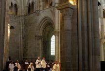 Basiliek in vezelay frankrijk
