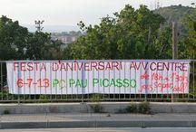Festa 2º Aniversari de l'AVVCentre / La fiesta del 2º aniversario en la Plaza Pau Picasso en el 2013