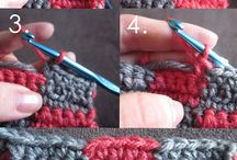 Crocheting STITCHES AND SQUARES / Stitches, patterns, squares, appliques...