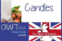 #CRAFTfest June 2016 - Candles Category - Best of British Event! / Sellers with stalls in the candles category of the June #CRAFTfest Best of British Event share with us their creations. http://www.craftfest-events.com/candles.html