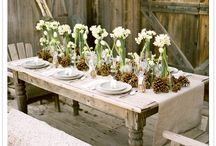 Tables, centrepieces and deco
