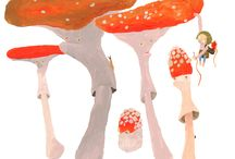 deep in moos / my children book with story about forrest elfish, mythical creatures, mushrooms, animals, ghosts, ....
