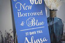 Something Old, New, Borrowed, & Blue / Wedding Keepsakes