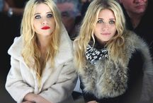 Sisters Kate and Ashley Olsen ;v