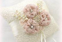 Örökvirág gyűrűpárnák - Ring Bearer Pillow