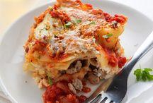 Pasta Recipes / Tasty fettuccine, lasagna, linguine, penne and spaghetti pasta recipes. Also pizza recipes. Many are gluten free.
