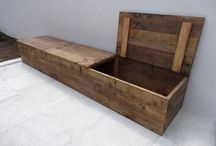 houten tuin bank