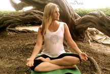 Yoga with Mia Luna in La Jolla / Mia Luna's chakra-infused yoga lifestyle soft bamboo viscose with our Sole design perfect for beach meditation
