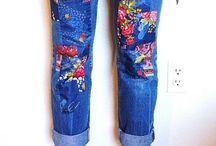 заделать дырки на джинсах