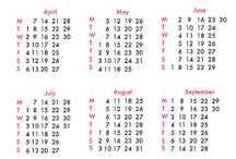 notepads and calendars