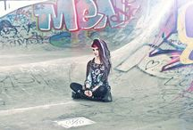 Grunge / Grunge outfit - shoot inspiration - poses and mood