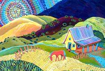 Rainbow Morning by Sally Bartos, New Mexico artist.