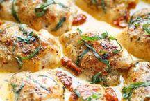 Csirke, kacsa, liba ételek