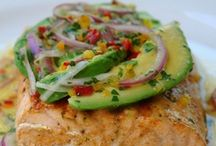 avocado lime salmon.
