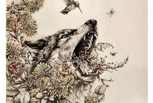 Dark Nature Drawings