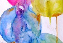 aquarel and pastel