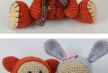 cute crochet dolls dressed in animal costumes