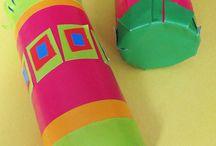 Hjemmelavede musik instrumenter til børn