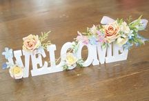 welcome、イニシャルフラワー