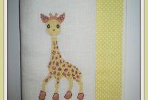 Broderie - Girafe Sophie