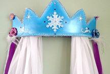 Snow Queen Snowflake Nursery Wall Decor / Snow Queen Fairy Tale Frozen Snowflake Wall Art, Snow Queen Fairy Tale Frozen Snowflake Nursery Decor