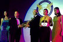 Thanos Liontos presenting the Award to Alexander Jovanovic at The Trans Resort Bali